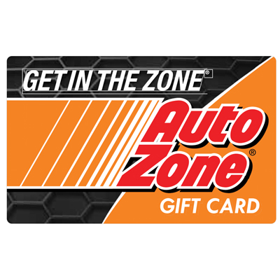 AUTOZONE<sup>&reg;</sup> $25 Gift Card – Perfect for do-it-yourself car owners to shop for auto parts, car accessories and vehicle information in-store and online!