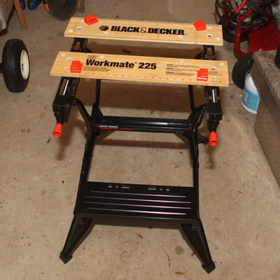 BLACK & DECKER<sup>®</sup> Workmate<sup>®</sup>  225-Portable Project Center and Vise - The Workmate<sup>®</sup> 225 is the perfect addition to your home shop! You can use it as a workbench, a bench tool stand or a sawhorse. It features adjustable rear jaws which provide versatility and stability when clamping materials. Also, the Workmate's legs fold under to provide lower height for larger projects and adjustable swivel pegs to allow you to hold almost anything!
